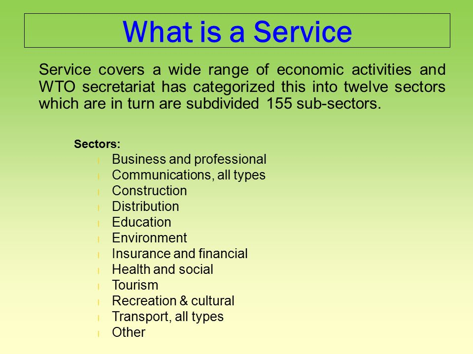 General Agreement On Trade In Services Gats What Is The Gats The