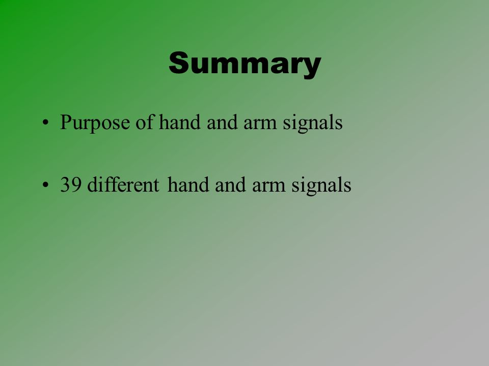 infantry common skills ics0903 hand and arm signals united states