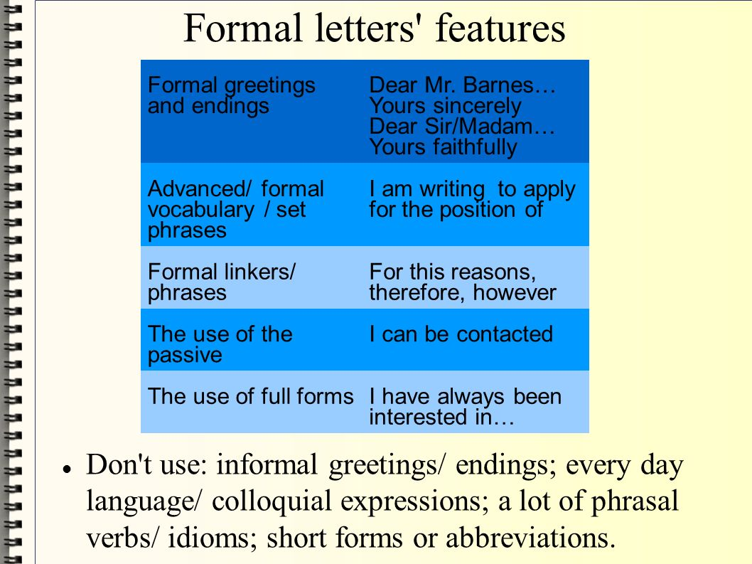 Formal Letters Writing How To Write A Letter Of Application And A