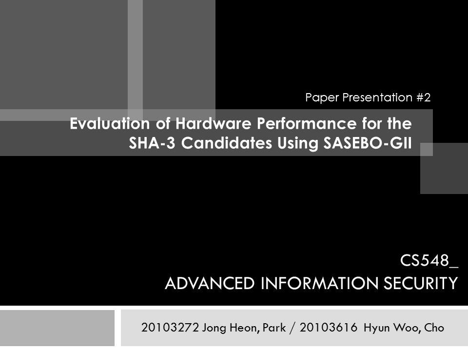 CS548_ ADVANCED INFORMATION SECURITY Jong Heon, Park / Hyun