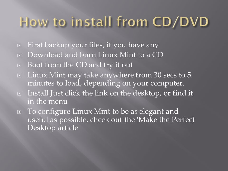 Linux Mint is a computer operating system designed to work