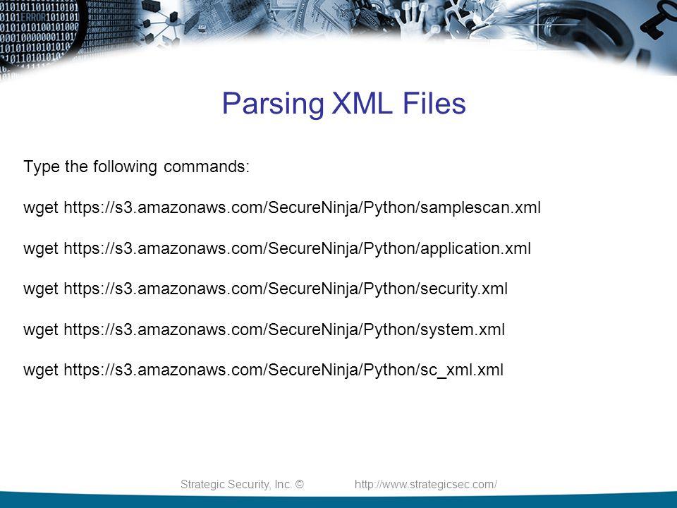 Strategic Security, Inc  © Python 2014 Python For IT