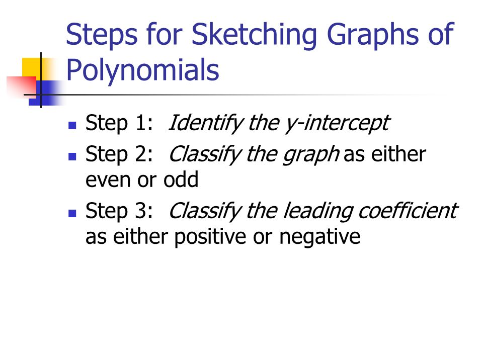 Sketching Graphs Of Polynomials 9 November Basic Info About