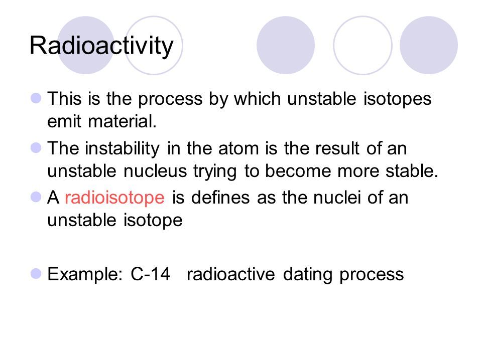 Define radioisotope radioactive dating