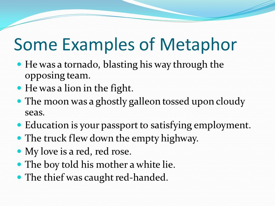 Five Example Of Metaphor Choice Image Example Cover Letter For Resume
