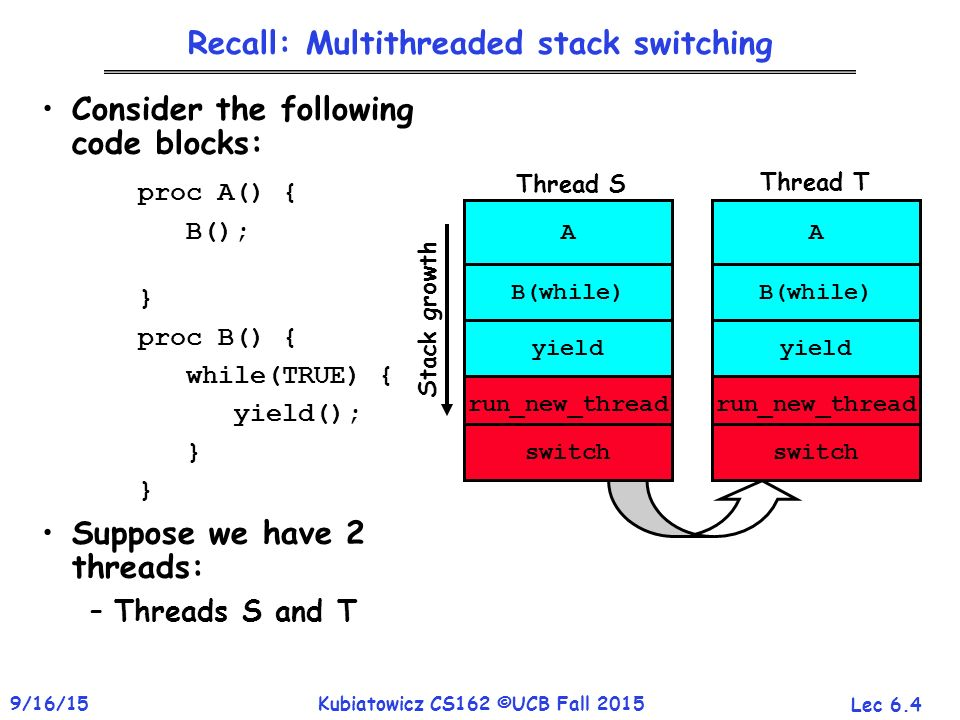 CS162 Operating Systems and Systems Programming Lecture 6