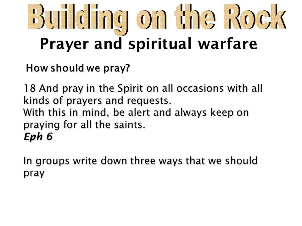 Prayer and spiritual warfare 2 Corinthians 10:4-6 2 Corinthians 10:4
