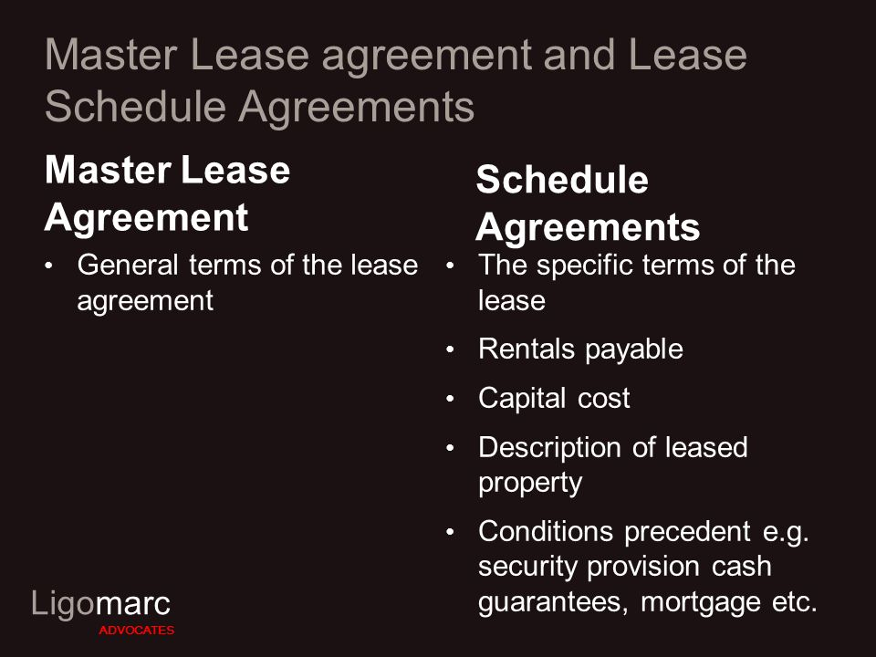 Ligomarc Advocates Pertinent Legal Issues In Leasing A Presentation
