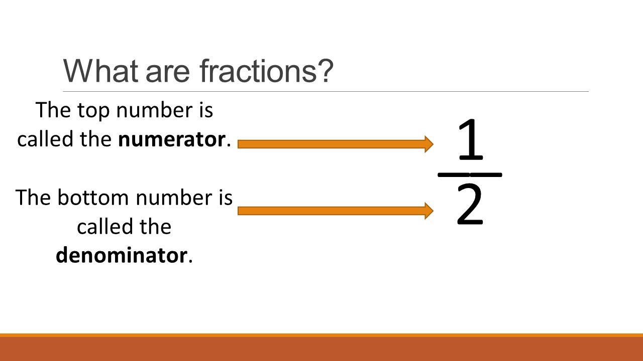 What are the fractions called 2