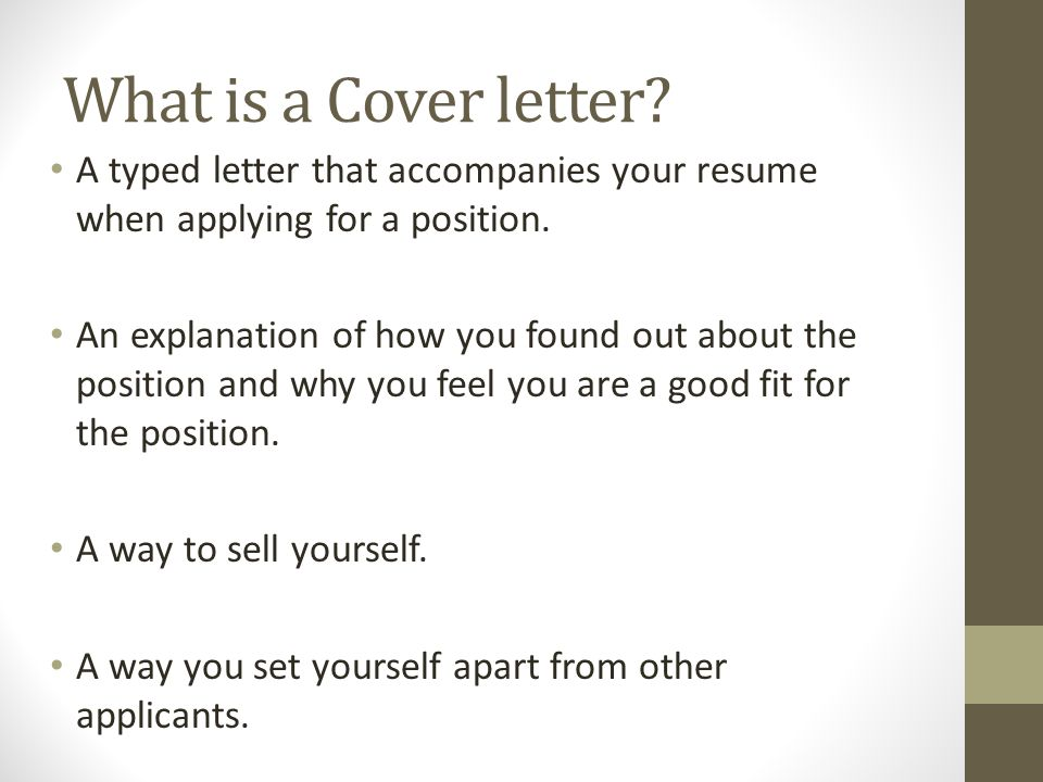 what do you include in a cover letter
