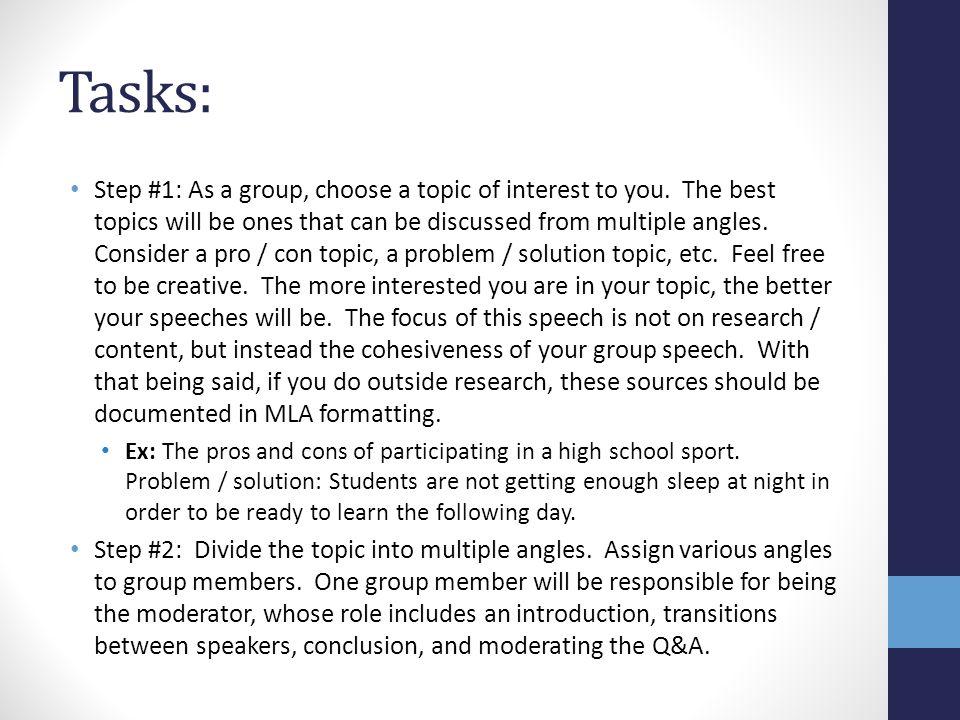 symposium speech topics