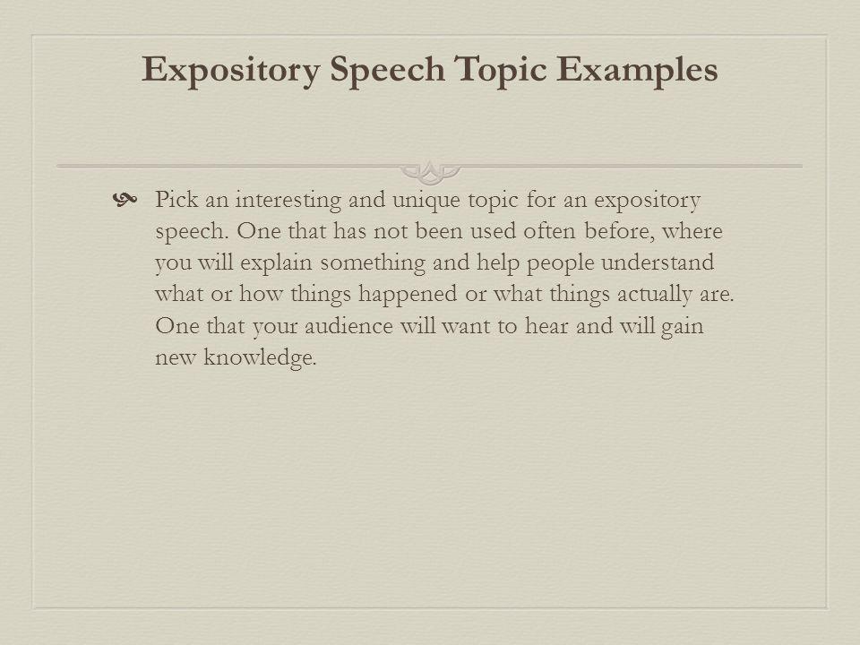 speech ideas