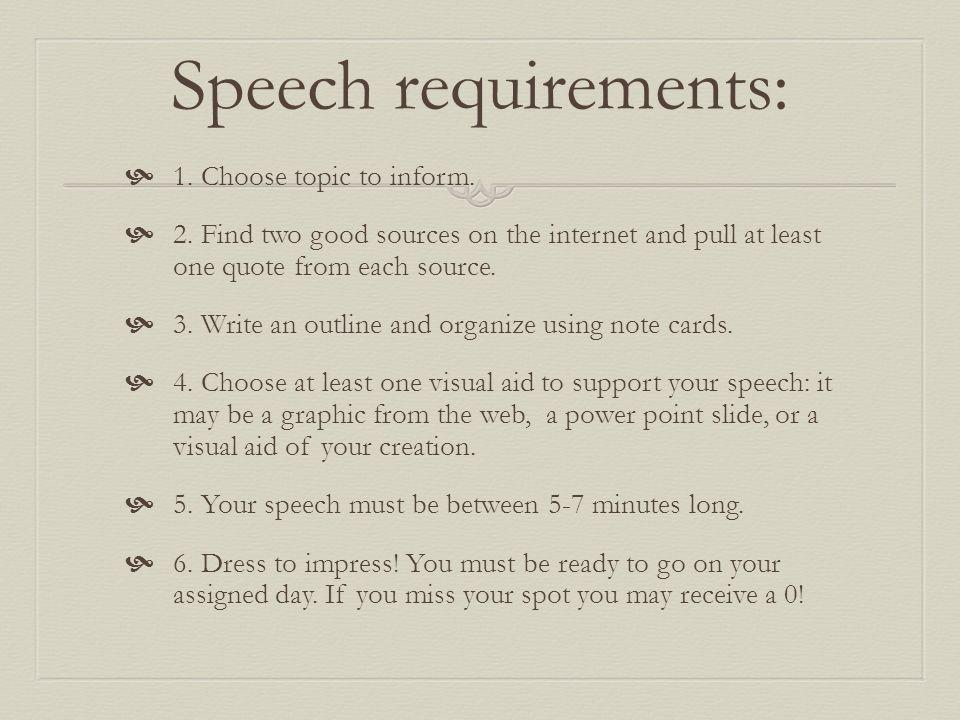 some good speech topics