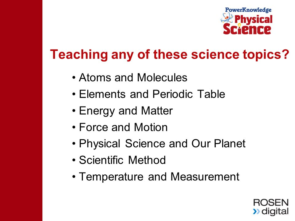 Teaching any of these science topics? Atoms and Molecules