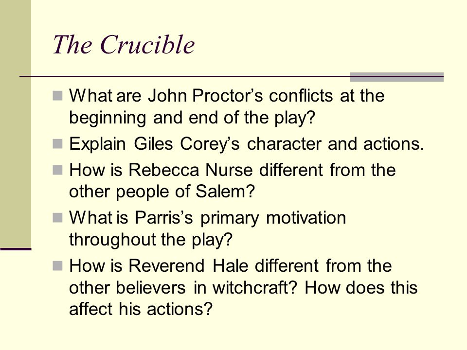 john proctor conflicts