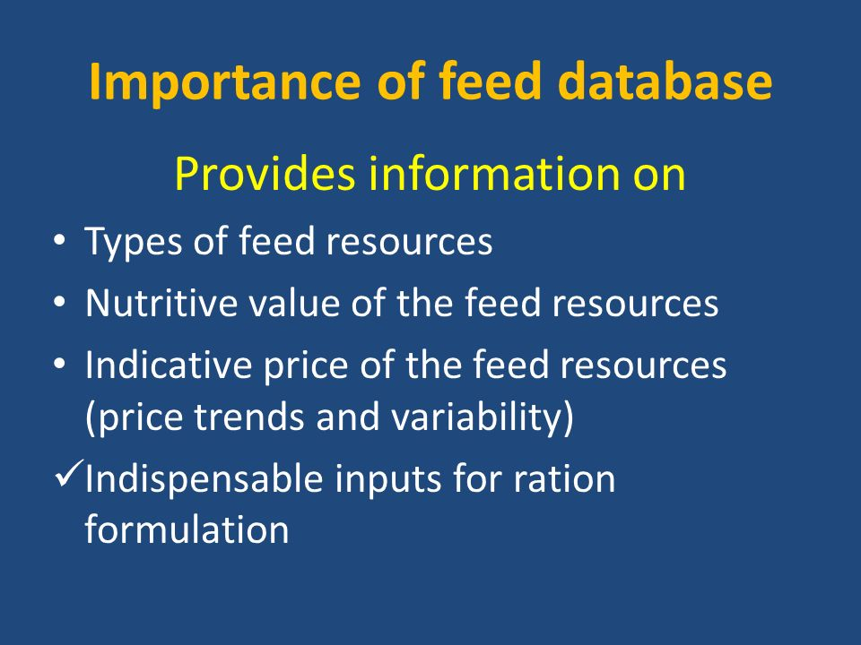 A ready reference feed dataset for the Ethiopian Livestock