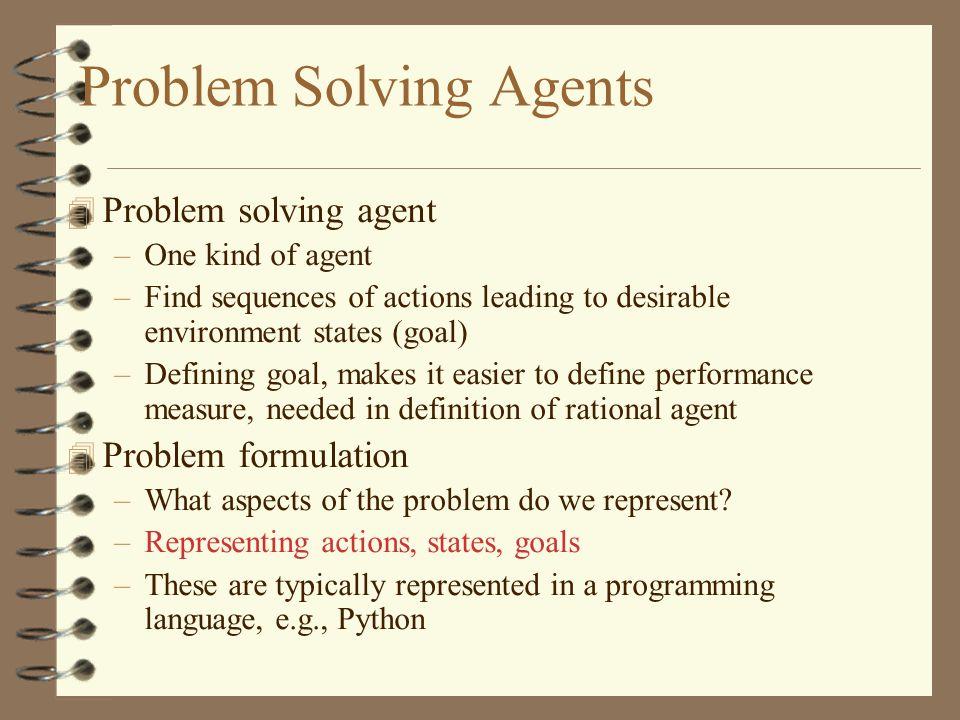 problem solving agent