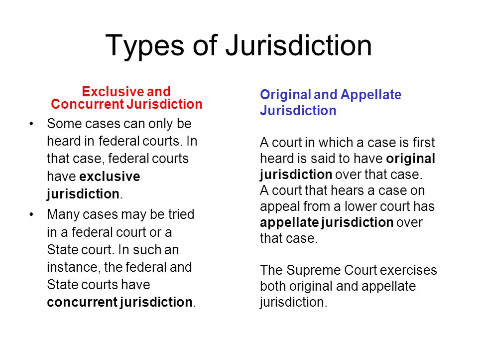types of jurisdiction of the supreme court