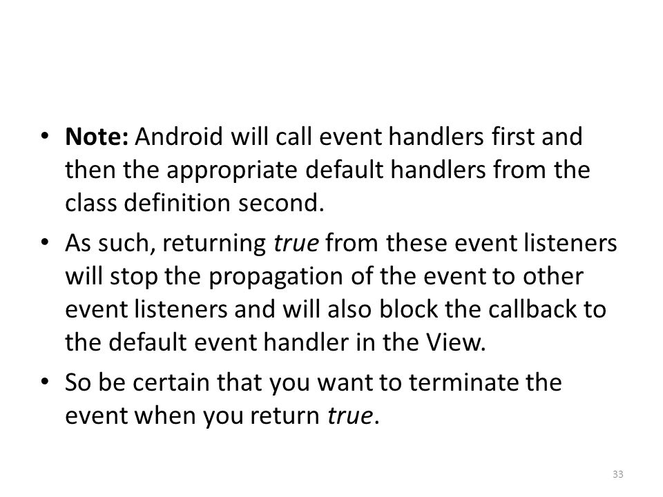 Android 11: Events, Menus, and the Action Bar Kirk Scott ppt download
