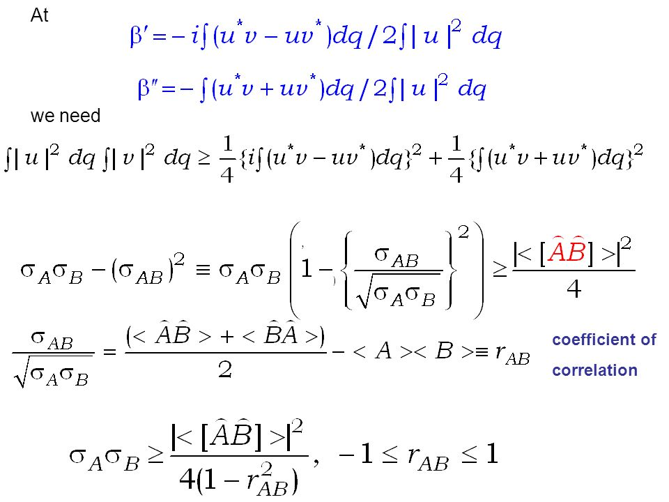 At we need, ) coefficient of correlation