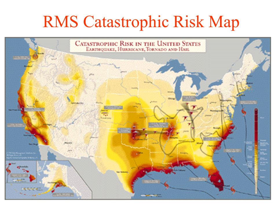 Finance 431 property liability insurance lecture 20 catastrophes 4 rms catastrophic risk map gumiabroncs Images