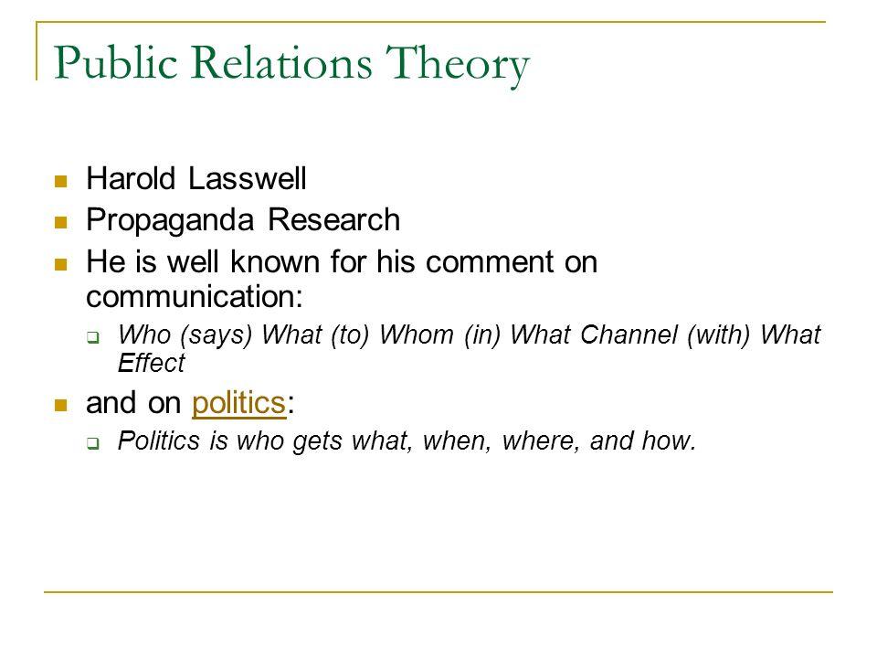 harold lasswell propaganda theory