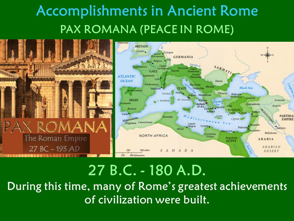 Accomplishments in Ancient Rome The Coliseum The Coliseum