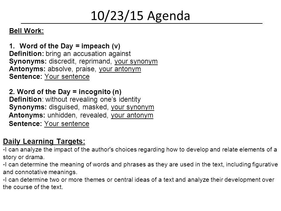 Language Arts 7 Daily Agenda Mr. Schmitt & Mr. Opfermann. - ppt download