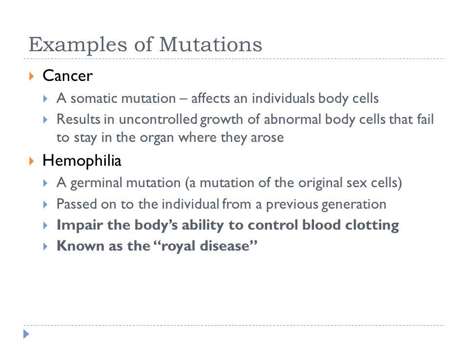 germinal mutation