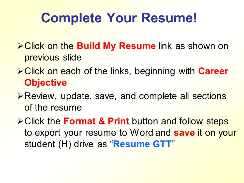 Career Cruising How To Build A Resume! What is a Resume? According ...