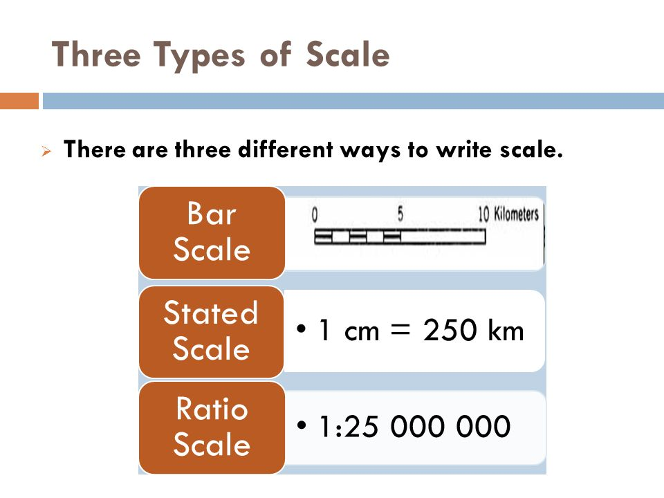 USING MAP SCALES  Map Scale  A scale is a statement of the