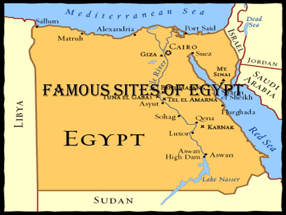 Pyramids In Egypt Map.Famous Sites Of Egypt Great Pyramid Of Giza This Is Largest Of The