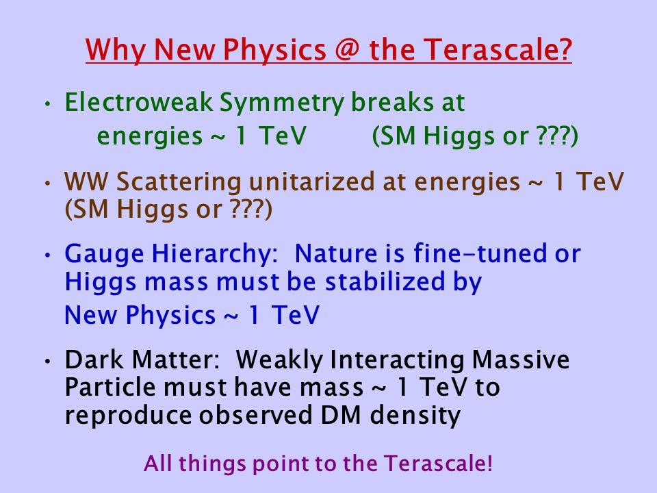 Why New the Terascale.