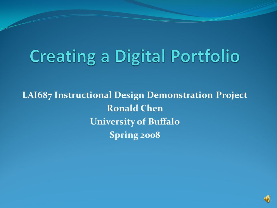 Lai687 Instructional Design Demonstration Project Ronald Chen