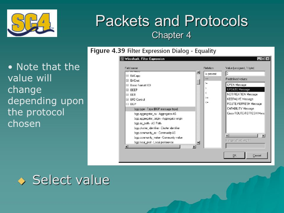 Packets and Protocols Chapter 4 Chapter Four Using Wireshark  - ppt