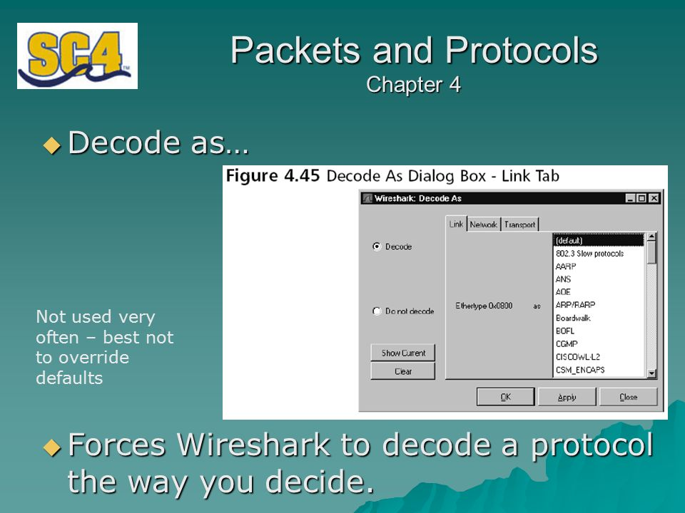 Packets and Protocols Chapter 4 Chapter Four Using Wireshark