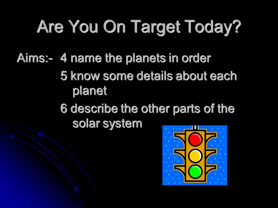 Are You On Target Today.