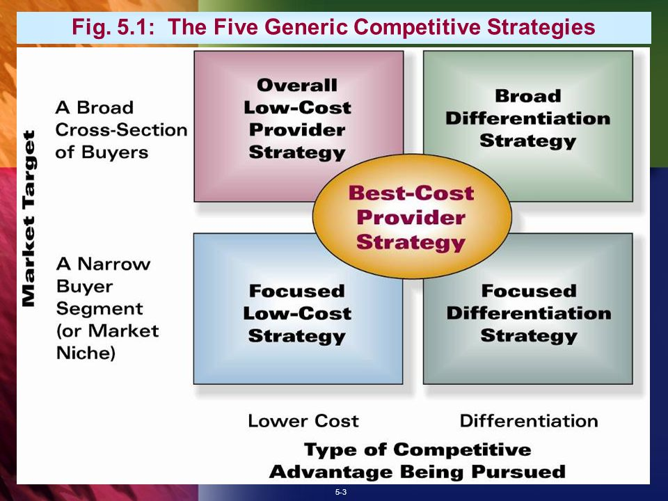 the generic types of competitive strategies include