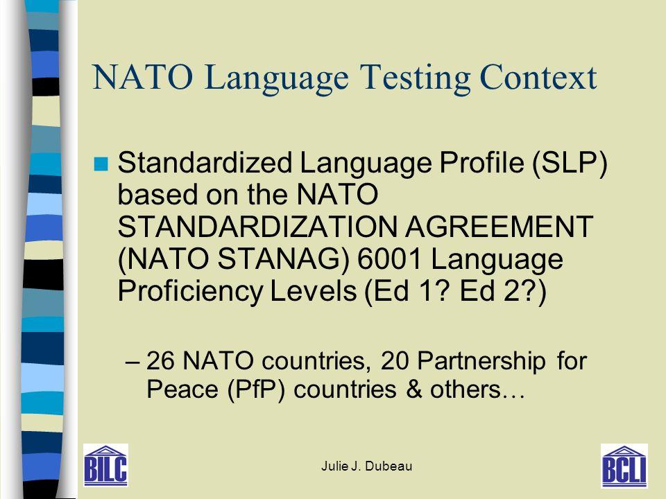 Stanag Opi Testing Julie J Dubeau Bucharest Bilc Ppt Download