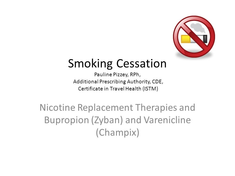 Smoking Cessation Pauline Pizzey Rph Additional Prescribing