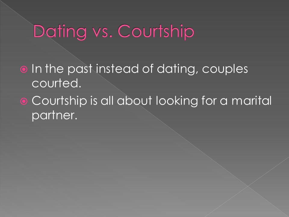 All about dating and courtship