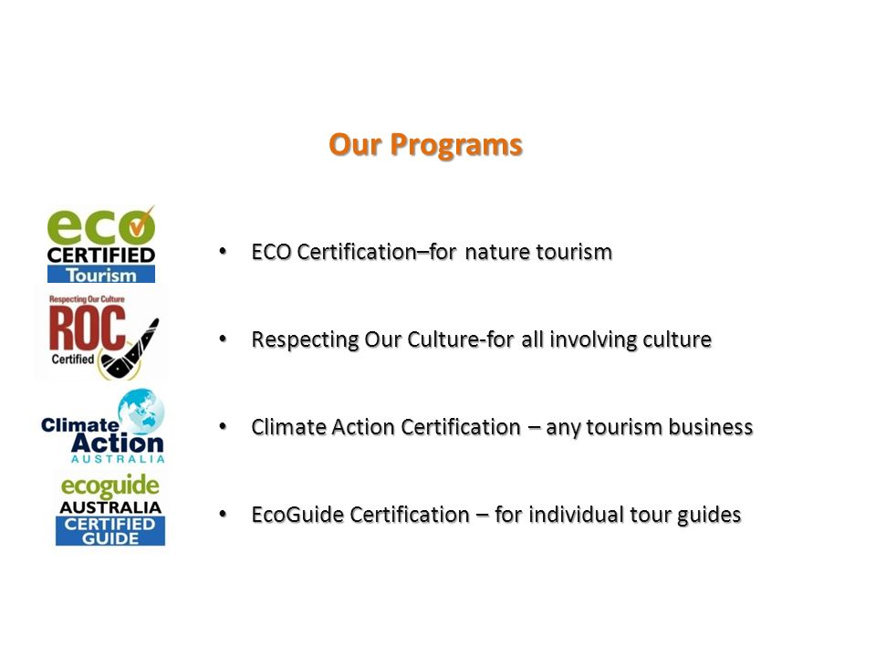 Ecotourism In Vanuatu Rod Hillman Chief Executive Ecotourism