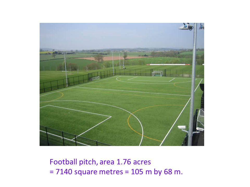 2 Football Pitch Area 1  Square Metres 105 M By 68 M