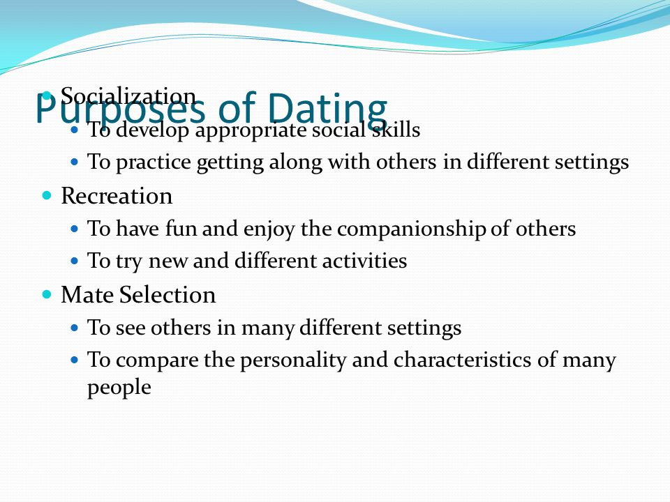 dating rules and regulations