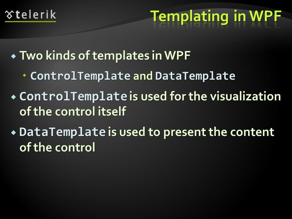 Datatemplate In Wpf