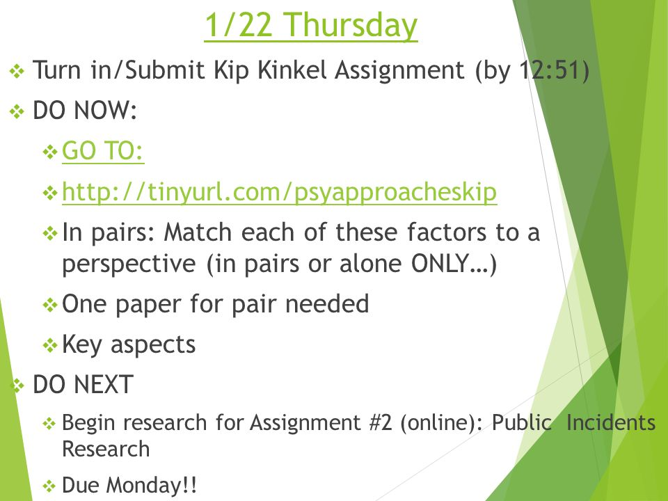 1 15 Thursday Psychology Turn In Your Celebrity Analysis If You Got Stuck Do Some Research Today Read P24 Move To 413 Research Methods Ppt Ppt Download Start studying kip kinkel basic set. slideplayer