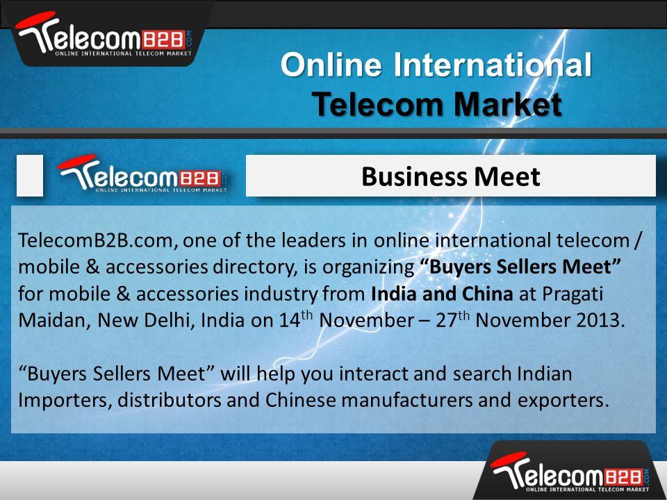 Online International Telecom Market TelecomB2B is Organizing