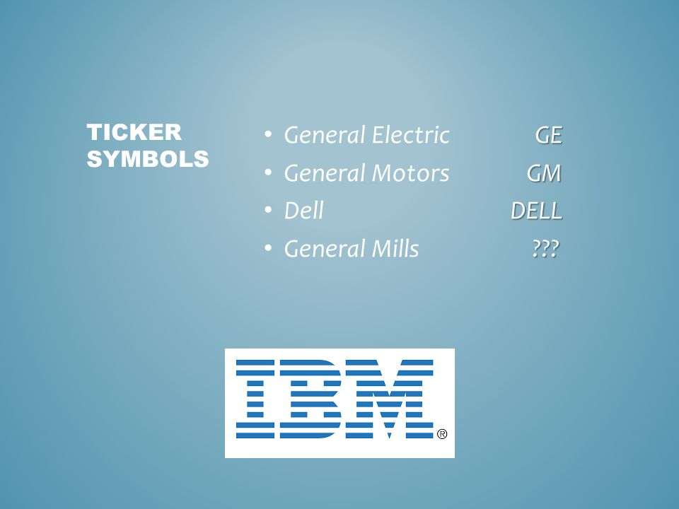 Identifying Symbols And Interpreting Stock Quotes Ppt Download