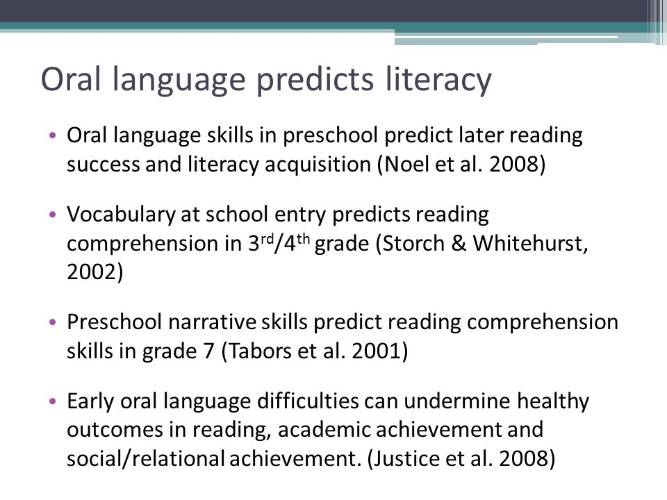 Language At 3 Predicts 3rd Grade >> Enriching Children S Language Learning To Support Literacy In Areas