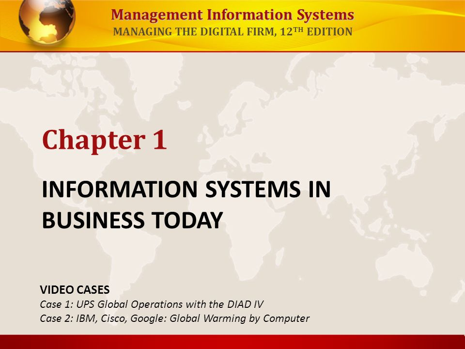 information systems in global business today ppt